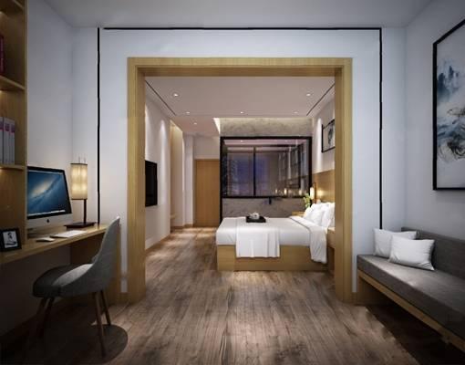 中式客房3D模型