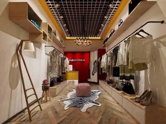 北欧服装店3D模型