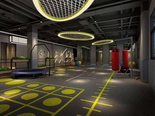 工业健身房3D模型