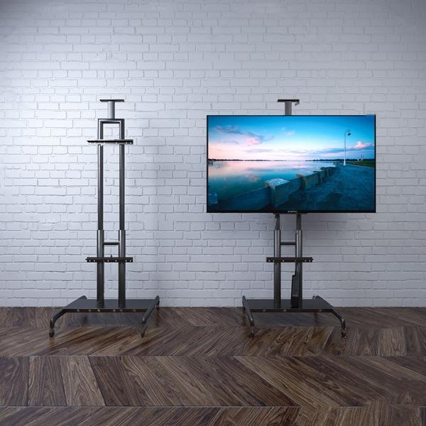 现代电视机移动支架3d模型