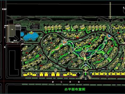 高檔住宅小區規劃CAD景觀設計圖